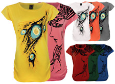 NEW WOMENS LADIES SHORT SLEEVE PRINTED TOP SUMMER T-SHIRT BLOUSE 6-14