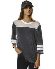 New Mossimo Warm Up Womens Raglan Tee Women's T-Shirts T-Shirt Tops Black