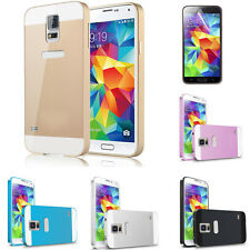 Aluminum Metal Bumper + Hard Back Cover For Samsung Galaxy S5 Case Cover i9600