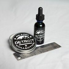 Detroit Beard Collective: Complete Beard Grooming Set, Elixir, Oil, and Comb