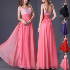 New Long Masquerade Evening Formal Party Ball Gown Prom Bridesmaid Dress Stock