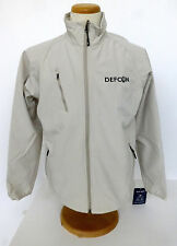 DEF CON textured soft shell Jacket Stone with silver embroidery Port Authority