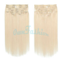 18 inch 100% Remy Human Full Head Clip In Hair Extensions