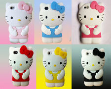 3D Hello Kitty Silicone Soft Rubber Gel Case Cover For iPhone 4s 5 5s 5c 6  Plus