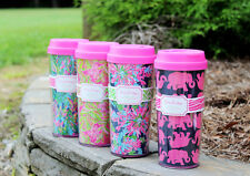 Lilly Pulitzer Thermal Mug Coffee Tea Cold Drinks TO GO Mug 16 oz. Best Seller