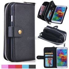 Leather Wristlet Clutch Wallet Card Slots Case Cover For Samsung Galaxy S & Note
