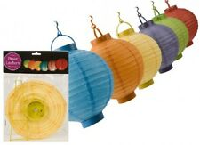 """BATTERY OPERATED PAPER  8"""" LANTERNS"""
