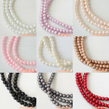 220pcs/ 1100pcs (3mm) Colors Strands Glass Pearls Loose Beads Round Craft DIY