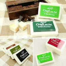 New Rubber Stamps Craft Ink Pad for Paper Fabric Wood Fabric 9 Colors