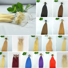 US Stock 20inch 100S 50g Remy Loops Micro Rings Beads 100% Human Hair Extensions