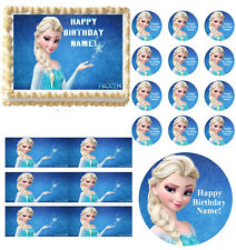 FROZEN ELSA Birthday Party Edible Cake Topper Frosting Sheet Image-All Sizes!