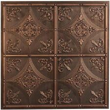 Faux Tin Ceiling Tile Designer PVC Backsplash Antique Style Bronze Nickel White