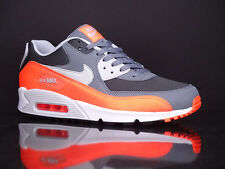 NIKE Air Max 90 Essential Cool Grey Total Orange Anthracite New NSW 537384 038
