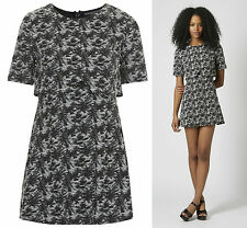 TOPSHOP PETITE Jacquard Notch Overlay Dress NEW in RRP £40