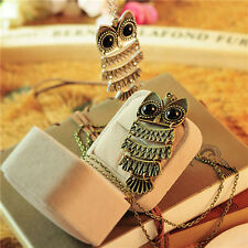 Cute New Lady Women Vintage Silver Owl Pendant Necklace best Gift For XMAS HOT