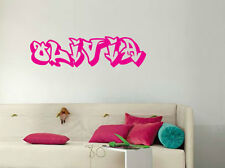Graffiti Personalised Name Art Removable Wall Door Custom Sticker  Decal