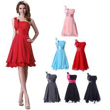 Cheap SEMI Formal Short Evening Ball Gown Party Prom Bridesmaid Dress Size 6-20