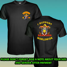 New I Support BANDIDOS MC WORLDWIDE 2 Side Black T-Shirt Size S-2XL