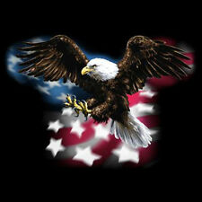 Patriotic American Eagle Flying USA Flag Stars & Stripes America T-Shirt Tee
