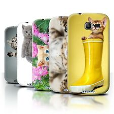STUFF4 Back Case/Cover/Skin for Samsung Galaxy Trend Lite/S7390/Cute Kittens