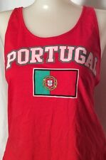 Portugal National Team Flag Red Tank Top Juniors Shirt Lupus