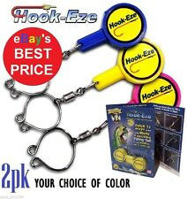 HOOK-EZE Fishing Line Safety Tying Device + Line Cutter- Hookeze 1 to 8 packs