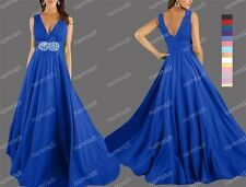 New Beaded Wedding Bridesmaid Formal Gown Evening Dress AU 8-28 N1 L (25 colors)
