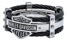 Harley-Davidson Men's Steel Double Cable Band Ring 10 11 12  HSR0022