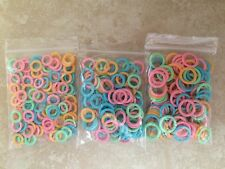 Plastic Ring Knitting Stitch Markers -Assorted Colors-Choose Pack & Marker Size