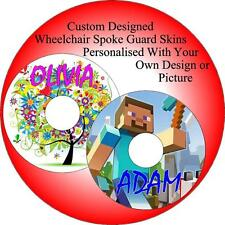 Wheelchair Spoke Guard Skins Custom Designs Persolalised By You Vinyl Sticker