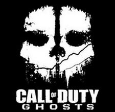 Call Of Duty Ghosts Skull White Ink Popular Video Game T-Shirt Tee