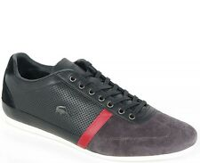 LACOSTE MISANO 27 1237 SRM BLK/RED/DK BRY LEATHER/SUEDE SNEAKERS sale %