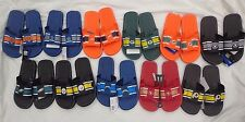 Mens 2015 NFL Velcro Striped Shower Slide Shoes Forever Collectibles