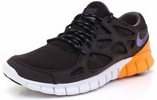 Mens Nike Free Run 2 EXT Sneakers New, Black / Orange 537732-051