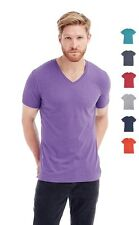 Mans Mens Plain Cotton Blend Melange Vee V-Neck Tee T-Shirt TShirt S-XXL
