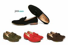 New Mens Suede Leather SlipOn Tassle Loafers Driving Shoes Size 6 7 8 9 10 11 12