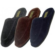 Mens House Corduroy Slippers Indoor Outdoor Comfort Plush New Slip on