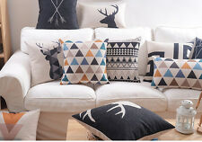 Nordic geometric zigzags triangles arrows deer head Cushion Cover pillow Case