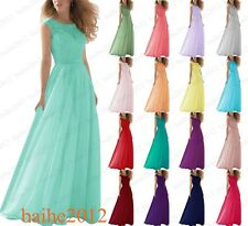 Stock New Lace Evening Formal Ball Gown Party Bridesmaid Prom Dress Size 6-18