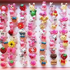 Wholesale!! Girl cartoon Animal ring baby princess children Resin rings jewelry