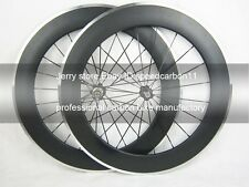carbon wheel with alloy brake surface 700C 80mm deep clincher shimano 11 speed