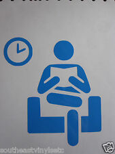 WAITING ROOM AREA Icon Vinyl Decal Sticker  *Available in 23 Colors* medical