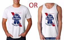 PABST Blue Ribbon Vintage PBR T-Shirt or Tank Top old school beer