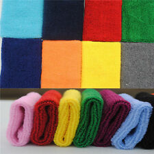 New 2* Lady Sweatband Sweat Band Sports Yoga Cotton Gym Hand band Wristband