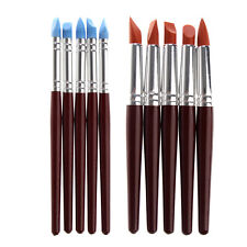 5Pcs Silicone Tip Pottery Clay Sculpture Modeling Carving Tool Set Art Craft Kit