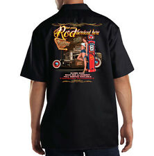 Dickies Black Mechanic Work Shirt Get Your Rod Serviced Here Hot Rod Pin Up Girl