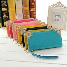 Hot Selling Women Card Long  holder  Leather Wallet Clutch Girls Purse HandBag