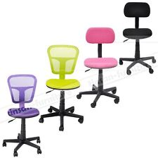 Ergonomically Adjustable Home Task Office Student Fabric Chair Padded Seat