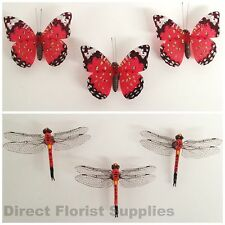 3 x Butterfly Decorative Magnets / 3 x Dragonfly Decorative Magnets