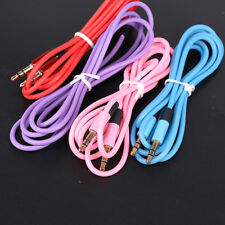 3.5 mm Jack Male to Male Aux Extension Audio Stereo Cable Cord For iPhone iPod T
